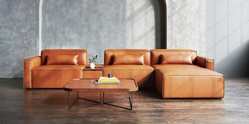Möbel aus Apfelleder