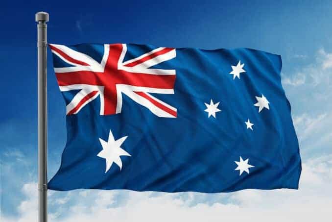 Australian flag Australien Flagge Fahne