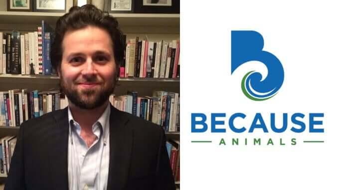 Gründer Joshua Errett von Because Animals (Hersteller für veganes Tierfutter)