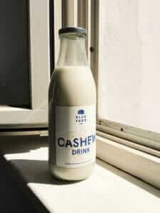 Cashew Drink, Glasflasche, zero waste, vegane Milchalternative