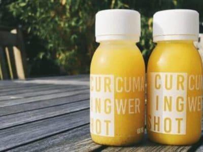 Kurkuma-Inngwer-Shot, Orange, Pfeffer, Bio, München, HPP-Verfahren