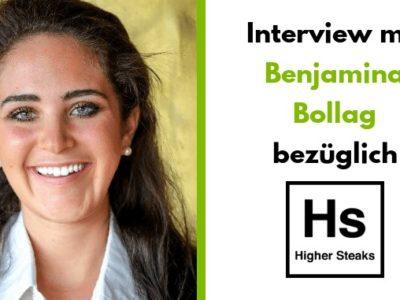 Benjamina Bollag –CEO & Gründerin von Higher Steaks