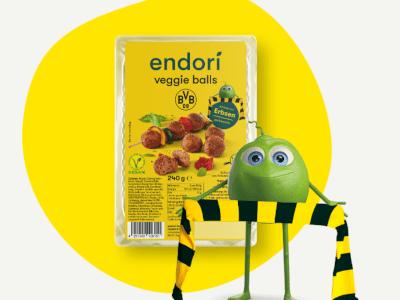 Endori Veggie BVB Balls: Pflanzlicher Genuss im Stadion und im Handel