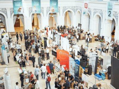 Food Innovation Camp 2018: ein Blick von oben auf die Aussteller
