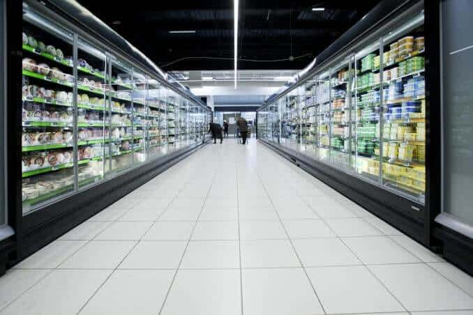 Lebensmittel Supermarkt Regal Produkt
