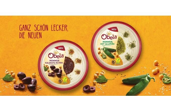 Neue Hummus-Sorten von Obela im März - Hot Jalapeño und Kalamata Oliven