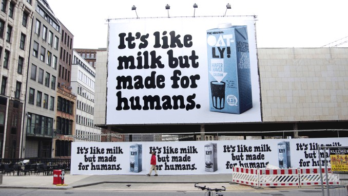 Oatly - It's like milk but made for humans campaign