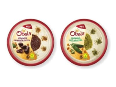Obela Hummus Kalamata Oliven | Obela Hummus Hot Jalapeño