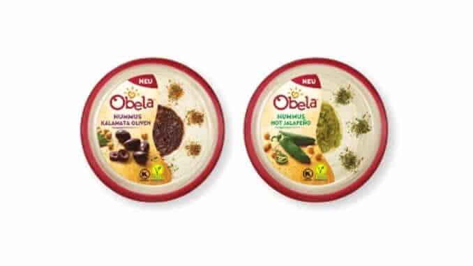 Obela Hummus Kalamata Oliven   Obela Hummus Hot Jalapeño