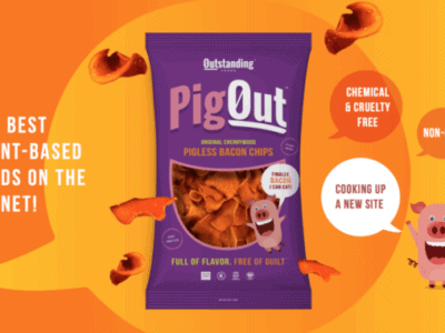 Vegane Bacon-Chips PigOut von Outstanding Foods