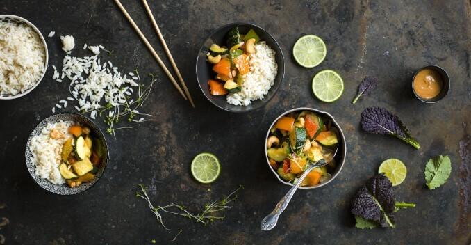 Thailand Essen Gemüse Reis
