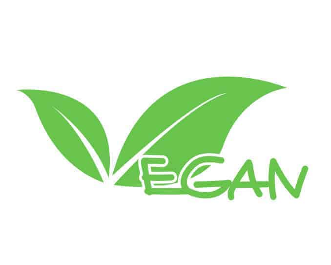 Vegan Logo Schriftzug