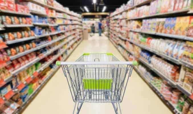 einkauf supermarkt produkte regal
