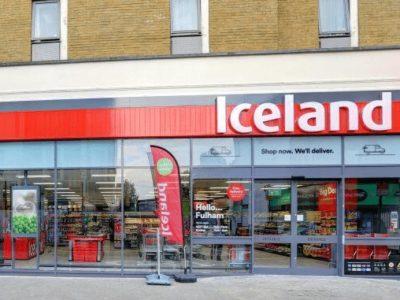 Iceland Supermarkt von außen
