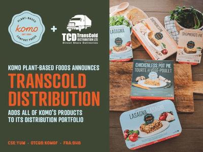 TransCold Distribution, führender Vertriebshändler von Unilever, nimmt Komo Plant Based Foods in sein Vertriebsportfolio auf