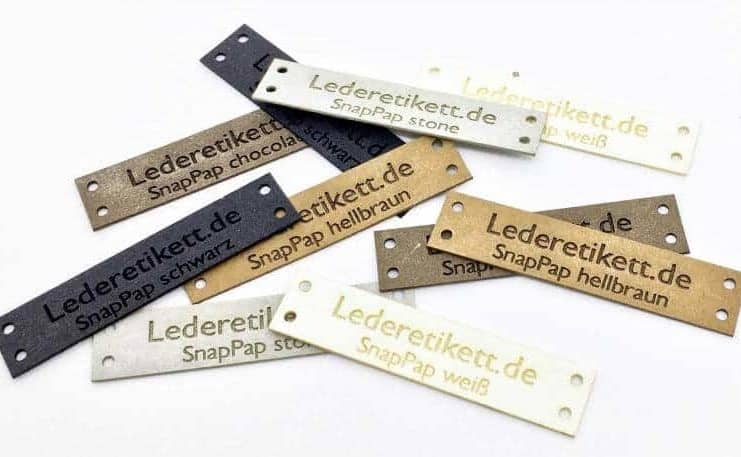 lederetikett.de logo produkt label