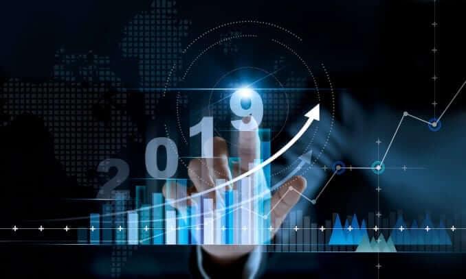 markt entwicklung graph statistik 2019