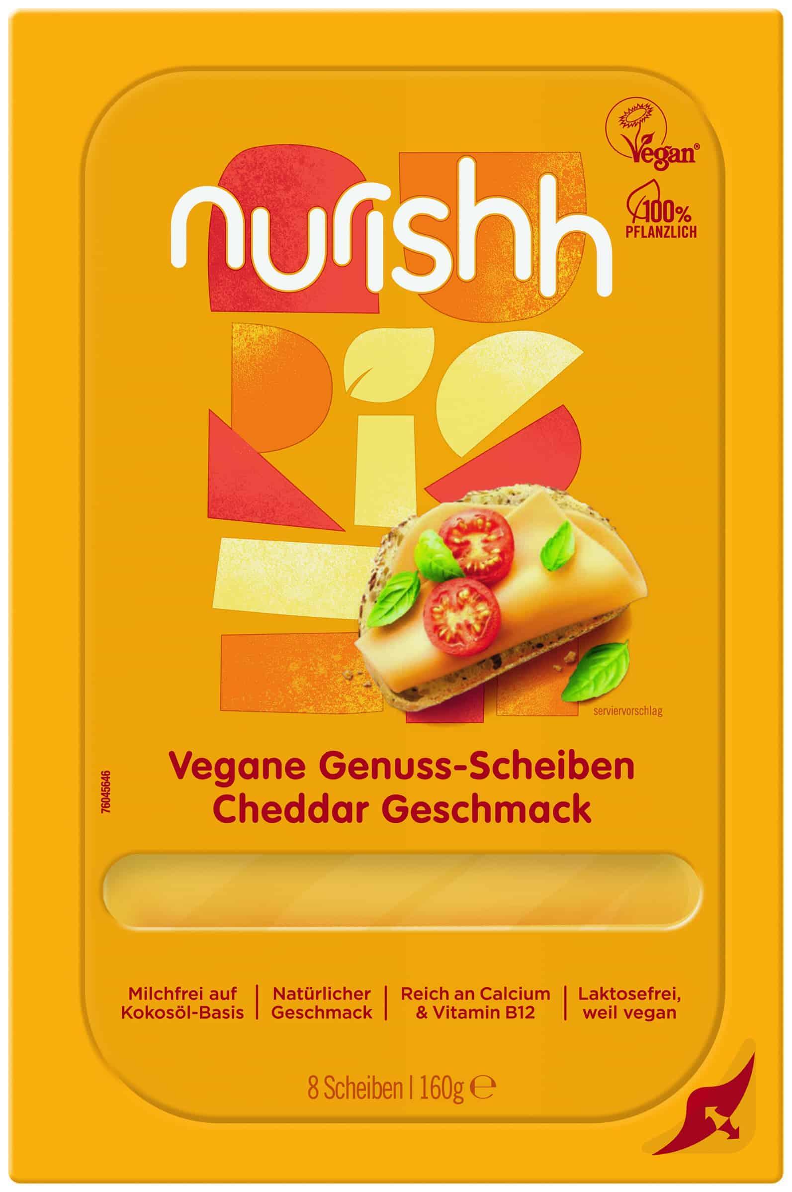 Vegane Genuss-Scheiben Cheddar Geschmack