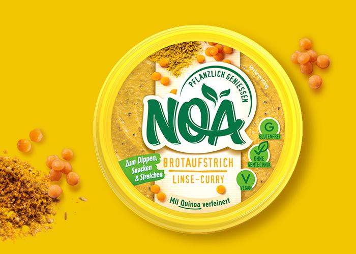 NOA Brotaufstrich: Linse-Curry