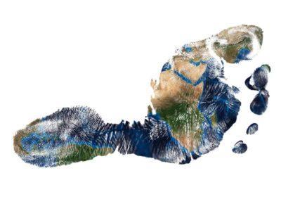 ökologischer Fußabadruck