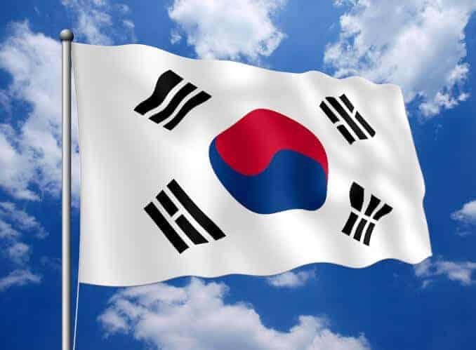 Südkorea Fahne Flagge