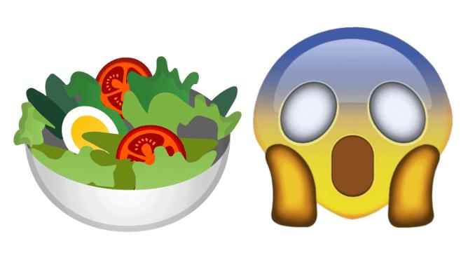 Salat-Emoji von Google noch unvegan