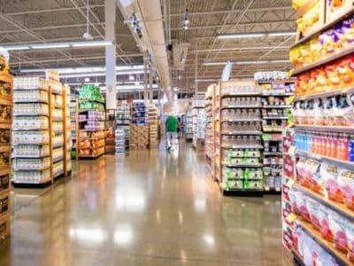 supermarkt regal lebensmittel produktplazierung